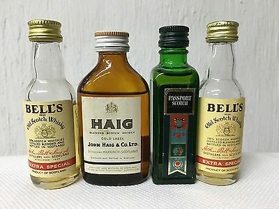 Lotto 4 MIGNON MINIATURE SCOTCH WHISKY :PASSPORT Haig Bell's Vintage
