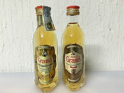 Lotto 2 miniature mignon whisky GRANT'S family reserve 5 Cl 43% -40% Vintage