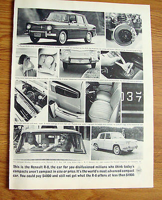 1963 Renault R-8 Ad  For you Disillusioned Millions