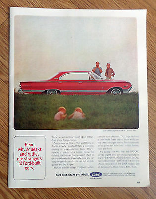 1964 Mercury Marauder in Carnival Red Ad