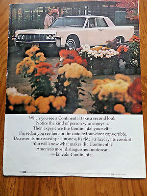 1964 Lincoln Continental Ad Take a Second Look