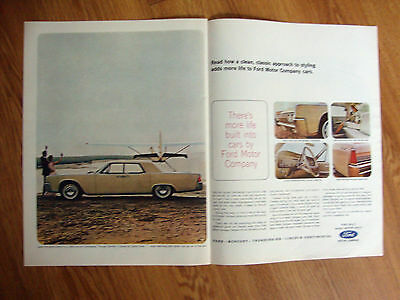 1964 Lincoln Continental Ad  Leave the World behind