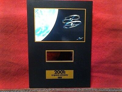 2001 A SPACE ODYSSEY SENITYPE + 70 mm film frame LIMITED EDITION 5 X 7 inch