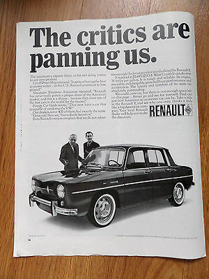1966 Renault 8 Ad   The Critics are Panning Us
