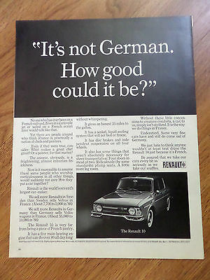 1967 Renault 10 Ad It's not German How good could it be?