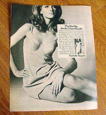 1968 Formfit Rogers Ad  The Bra Slip for the Natural Look
