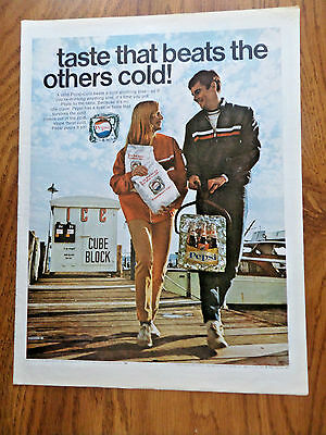 1968 Pepsi Cola Ad -  Taste That beats the Others Cold