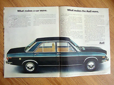 1970 Audi 100LS Ad  What Makes the Audi Move