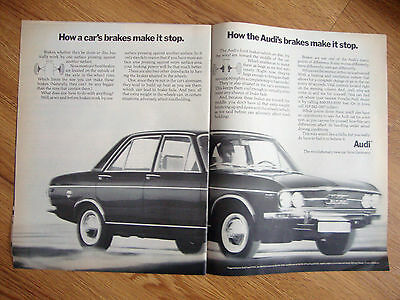 1970 Audi 100LS Ad How a Car's Brakes Make it Stop How Brakes Make it Stop