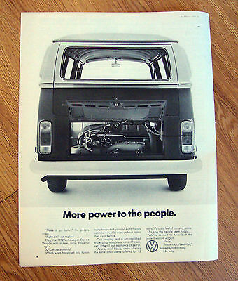 1972 VW Volkswagen Bus Ad More Power to the People