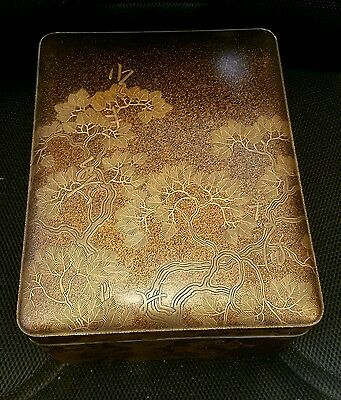 Japanese Meiji Period Large Lacquer Box