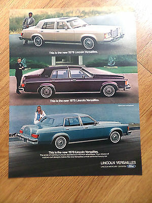 1979 Lincoln Versailles Ad Moonroof Valino Grain Roof