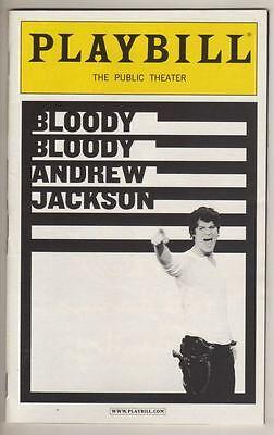 """""""Bloody Bloody Andrew Jackson""""   Playbill   2010   Public Theater"""