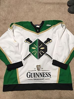 Authentic Game Worn Wheeling Nailers St. Patrick's Jersey Pittsburgh Penguins 54