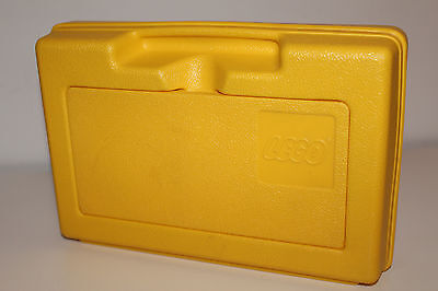 "Vintage LEGO PLASTIC CARRY CASE Yellow colored 11.5"" X 7.5"" ** 80's RARE / L@@K"