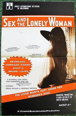 SEX & THE LONELY WOMAN Susanna Grossen 1972 Movie Pressbook Adult RATED X
