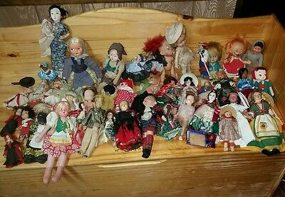 Massive Vintage Antique Doll Collection 40+ dolls some with tags!  Rare HTF all