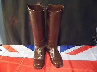 1930-1940's vintage ladies brown riding boots