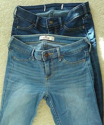 HOLLISTER Girls Skinny Jeans - size 00S - lot of 2 Pairs, Excellent Condition
