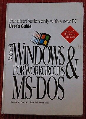 Microsoft Windows for Workgroups & MS-DOS User's Guide