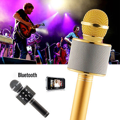 WS-858 Wireless Karaoke Handheld Microphone Player USB KTV  Bluetooth Speaker sl