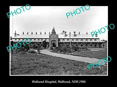 OLD LARGE HISTORIC PHOTO OF WALLSEND NSW, VIEWE OF THE WALLSEND HOSPITAL c1906