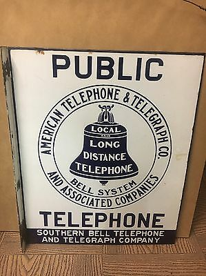 Southern bell Telephone Sign Local Long Distance Phone Sign