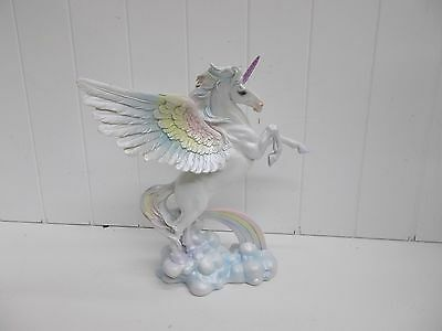 G91884 Alicorn Large Rearing Gsc George Chen Statue Figurine Decoration