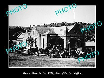OLD LARGE HISTORIC PHOTO OF OMEO VICTORIA, VIEW OF THE POST OFFICE c1911