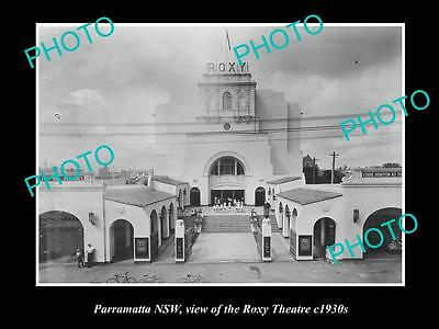 OLD LARGE HISTORICAL PHOTO OF THE ROXY  THEATRE, PARRAMATTA NSW c1930