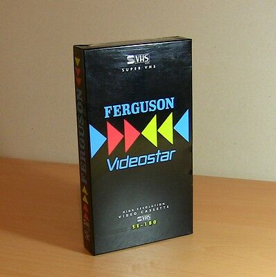 RARE Ferguson Videostar Blank SE-180 3 Hour S-VHS Video Cassette Tape NEW SEALED
