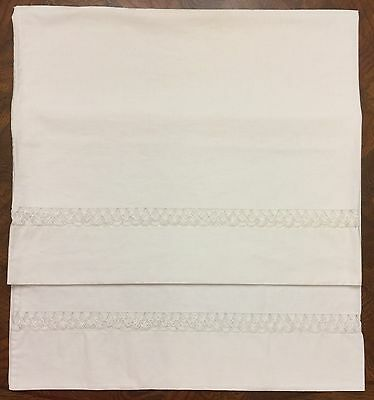 Vintage Pair of White Cotton Pillow Cases - Drawn work ~ Simply ~ Lovely