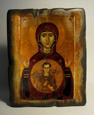 Handmade copy ancient ORTHODOX CHURCH ICON Mother of God Inviolable 111S