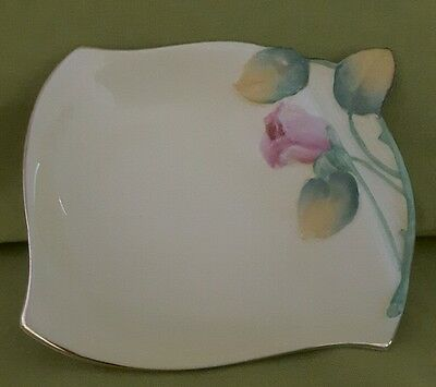 Royal Winton Grimwades yellow ' Rose bud' butter tray