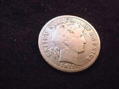 1911-S Barber Dime Great Coin!!  #10