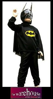 New CHILDRENS BATMAN COSTUME KIDS OUTFIT PARTY HALLOWEEN CHRISTMAS GIFT BAT MAN
