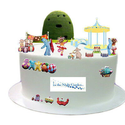 In The Night Garden Stand Up Scene Edible Premium Wafer Paper Cake Topper