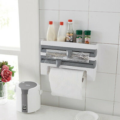 Kitchen Cling Film Sauce Bottle Storage Rack Paper Towel Holder Kitchen Tools