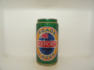 BOAGS EXPORT LAGER 375ml EMPTY BEER CAN
