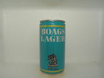 BOAGS LAGER 375ml BLUE ALUMINIUM EMPTY BEER CAN