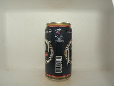 Fosters Light Ice Sydney 2000 Olympics Supporter Empty Beer Can