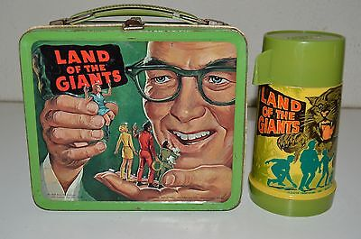 Vintage 1968 Land Of The Giants TV Show Metal Lunchbox & Thermos Set C6.5 Rare