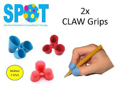 2x CLAW Pencil Grips (medium) *HAND WRITING school OT special needs THERAPY *