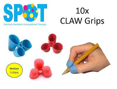 10x CLAW Pencil Grips (medium) *HAND WRITING school OT special needs THERAPY *