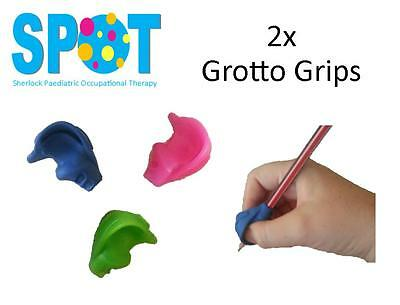 2x Grotto Pencil Grip *HAND WRITING school OT special needs THERAPY *