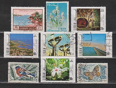 Lebanon / Liban - 9 Different Stamps