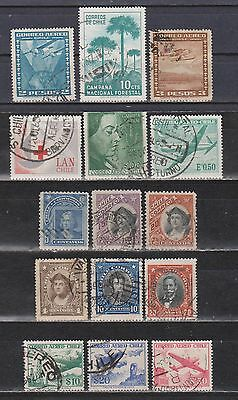 Chile - 1905-1967 - 15 Different Stamps