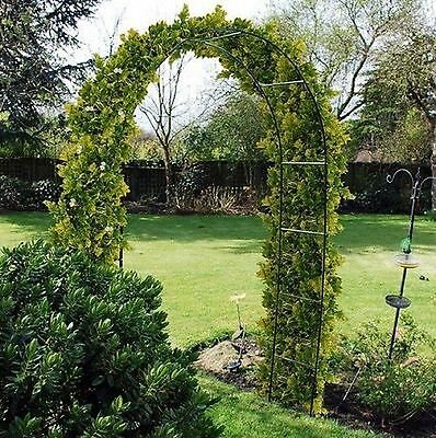 New Self Assembly Garden Metal Arch For Climbing Plants Roses Trellis 2.4M