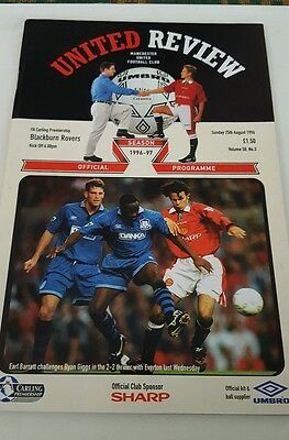 Manchester United V Blackburn Rovers Prem 1996/97