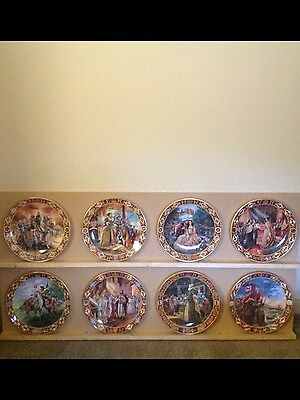 Royal Doulton - Kings & Queens Of The Realm Plates - New Condition - Collectors